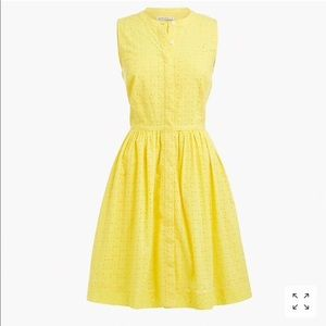 🆕💥 J.Crew eyelet Yellow Dress - Size 20